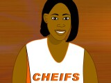Player 1's avatar, wishing she'd spellchecked her team name. Cheifs!
