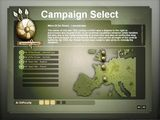 The campaign menu screen for War of the Roses.