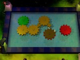 A fairly early level, introducing a new size of gear. You need to connect the green gear to the red one.